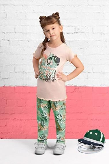 U.S. Polo Assn. U.S. Polo Assn Lisanslı Açık Gri Kız Çocuk Pijama Takımı Pembe